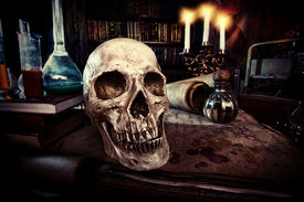 foto of fairies  - Medieval alchemist laboratory - JPG