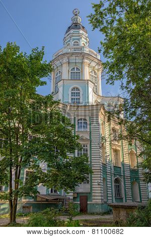 Tower Of Kunstkamera Museum In St. Petersburg