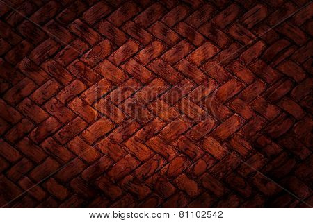 Red Basket Weave Pattern