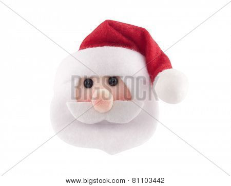Santa Claus head isolated on white background