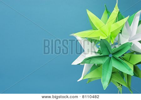 Paper Origami Decoration With Copy Space
