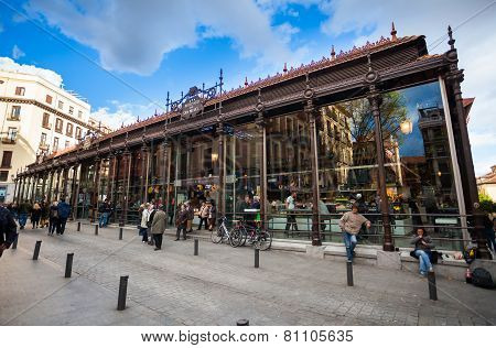 San Miguel Market (mercado San Miguel) On City Centre Of Madrid