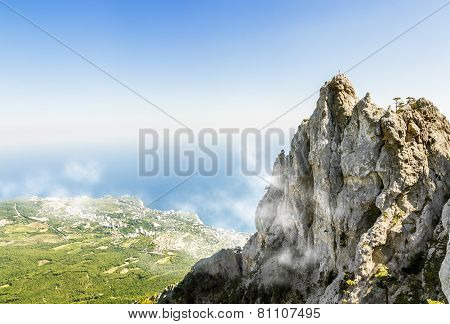 The Top Of Mount Ai-petri In Crimea On A  Sunny Day