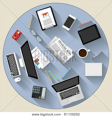 Modern flat design brainstorming and teamwork concept   for e-business, web sites, mobile applications, banners, corporate brochures, book covers, layouts etc. Vector eps10 illustration