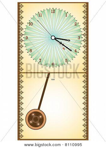 wooden pendule clock