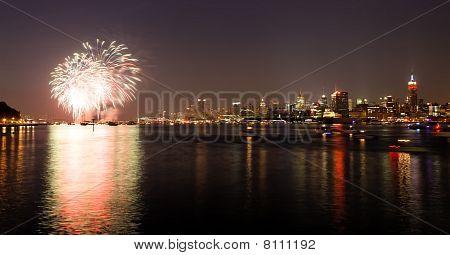 die macy's 4. Juli Feuerwerke