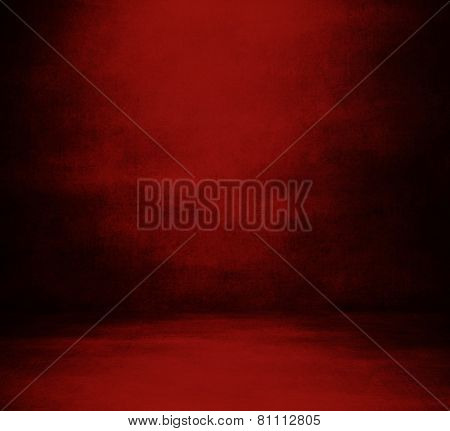 Blank background room in red