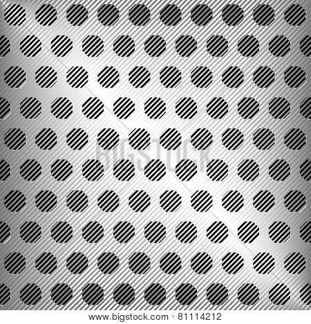 Vector abstract silver metal texture, vector background