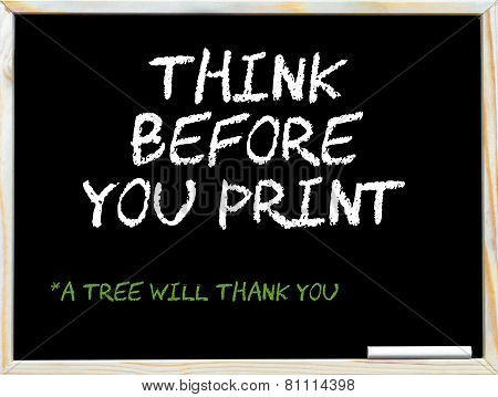 Think Before You Print