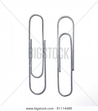 Paper clip on a white background