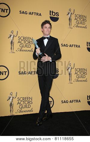 LOS ANGELES - JAN 25:  Eddie Redmayne at the 2015 Screen Actor Guild Awards at the Shrine Auditorium on January 25, 2015 in Los Angeles, CA