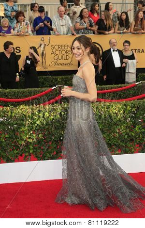 LOS ANGELES - JAN 25:  Emmy Rossum at the 2015 Screen Actor Guild Awards at the Shrine Auditorium on January 25, 2015 in Los Angeles, CA