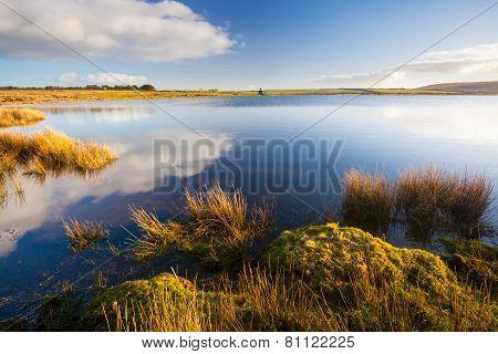 Dozmary Pool Cornwall England