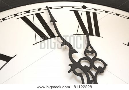 Clock at almost midnight