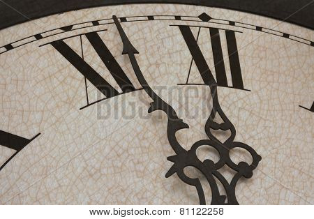 Clock with slight cracked texture
