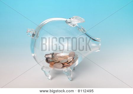Light Bulb In Piggy Bank