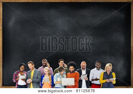 Diverse Ethnic Business Occupation Cheerful Variation Concept
