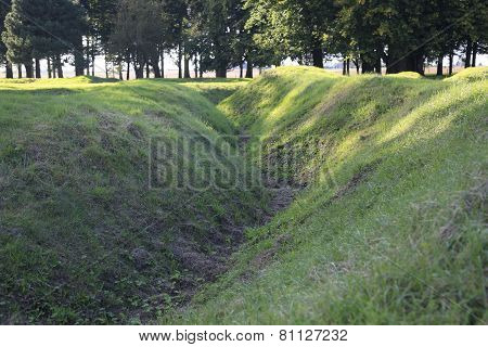 WWI trenches Europe