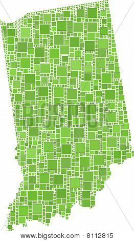 Map of Indiana (USA)