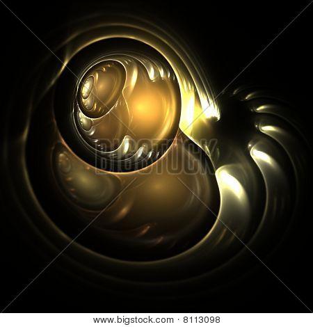 Golden Robotic Eye
