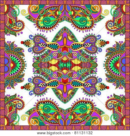 ornamental floral paisley bandanna. Square ornament