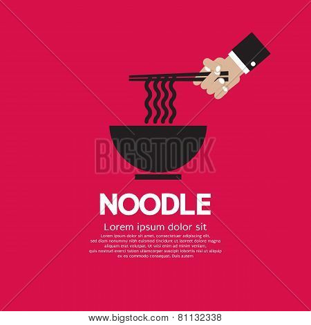 Noodles Vector Illustration Eps10