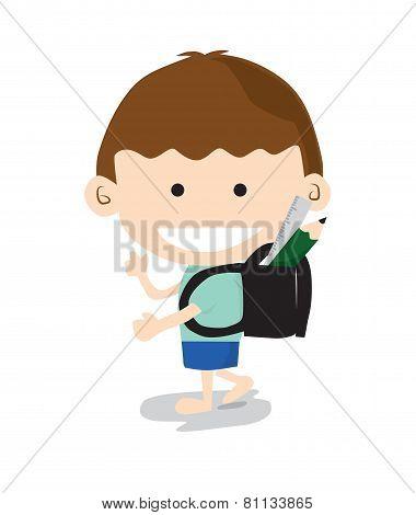 Little Boy Go To School.