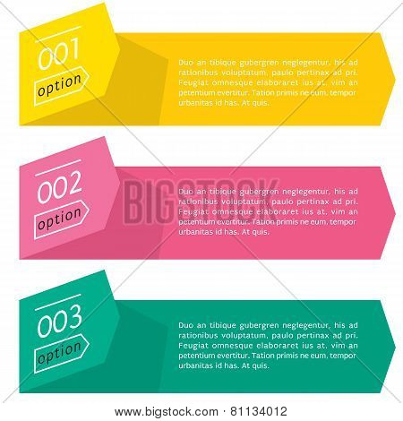 Simply And Clean Folding Paper Banner Vector With Numbers