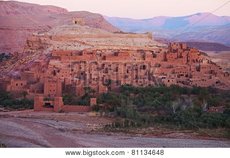 Ksar of Ait-Ben-Haddou at dawn, Morocco.