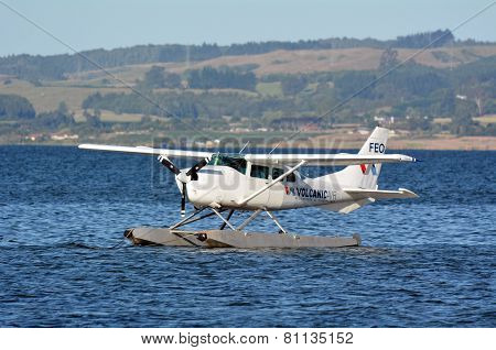 Floatplane On Lake Rotorua New Zealand