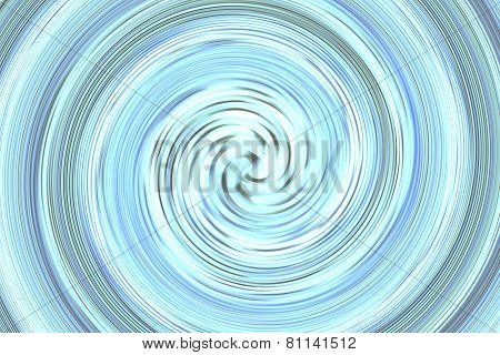 Abstract Bright Blue Spin
