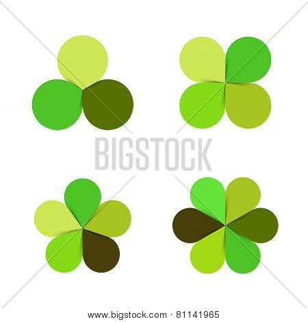 Circle green leaves ecology logo. Nature sign, symbol.