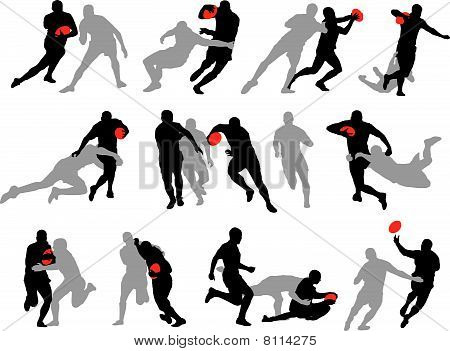 11 groups of rugby poses
