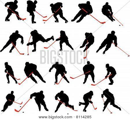 20 Ice hockey Poses