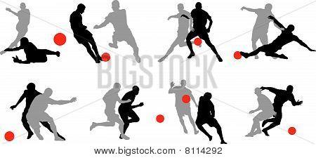 Dynamic soccer poses