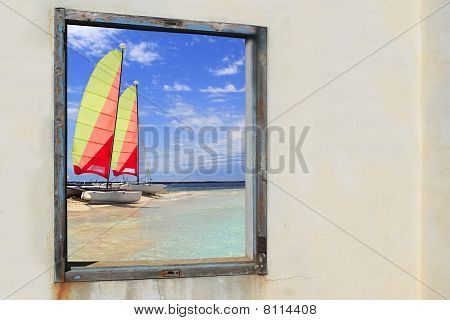 Formentera Beach Hobie Cat Illetes Window View