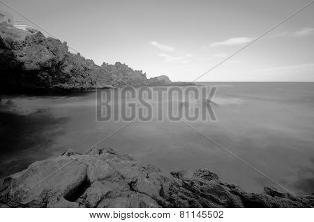 Black and White Infrared Ocean