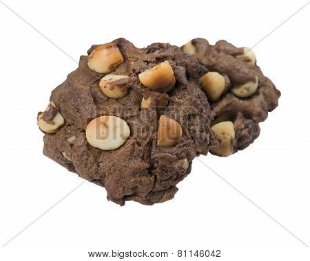 Cookies With Macadamia Isolated On White