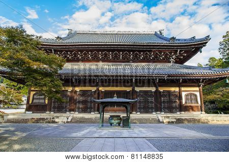 Dharma Hall (Hatto) at Nanzen-ji Temple in Kyoto Japan
