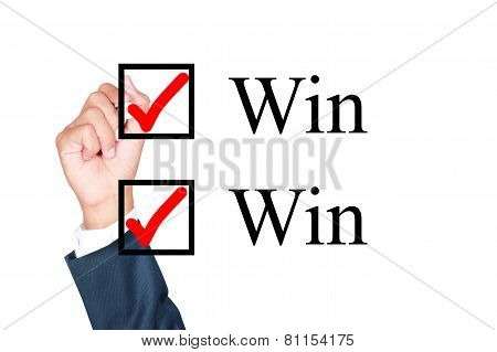 Tick Win-win Mark