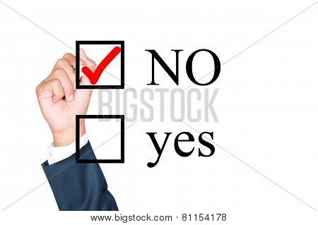 Say No Tick Mark On Checkbox