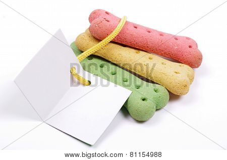 dog treats and gift card