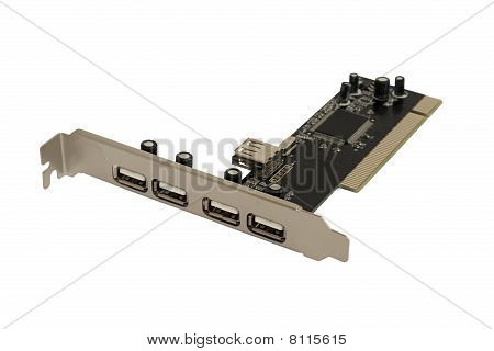 5 Usb To 1 Pci Adapter Card