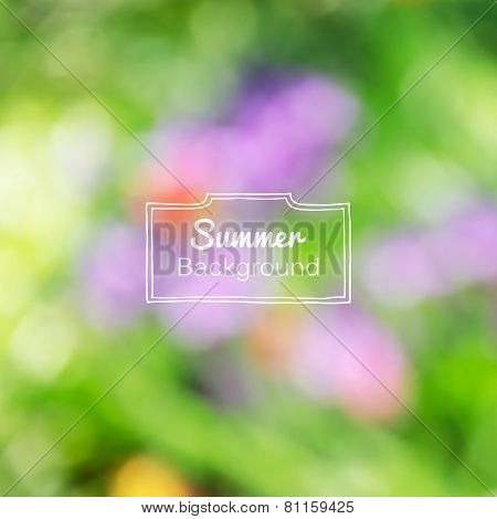 Vector blurred nature summer green background