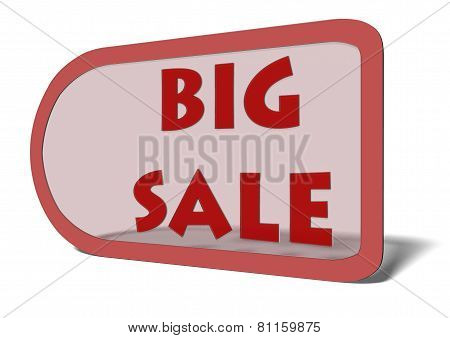 A Price Tag With The Words Big Sale