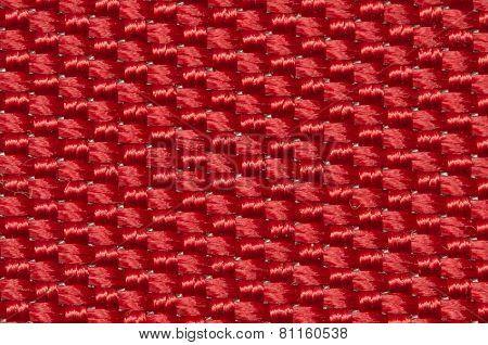 red fabric texture background