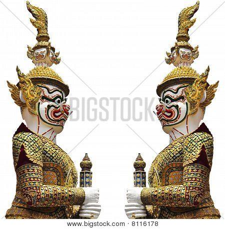 Giant Statue in Wat Phra Keaw