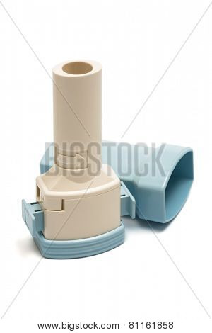 inhaler on a white background