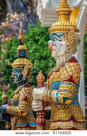 Thai Giant Statues, Giant Symbol In Thai Temple
