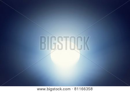 Deep tunnel leading to light. Concept image